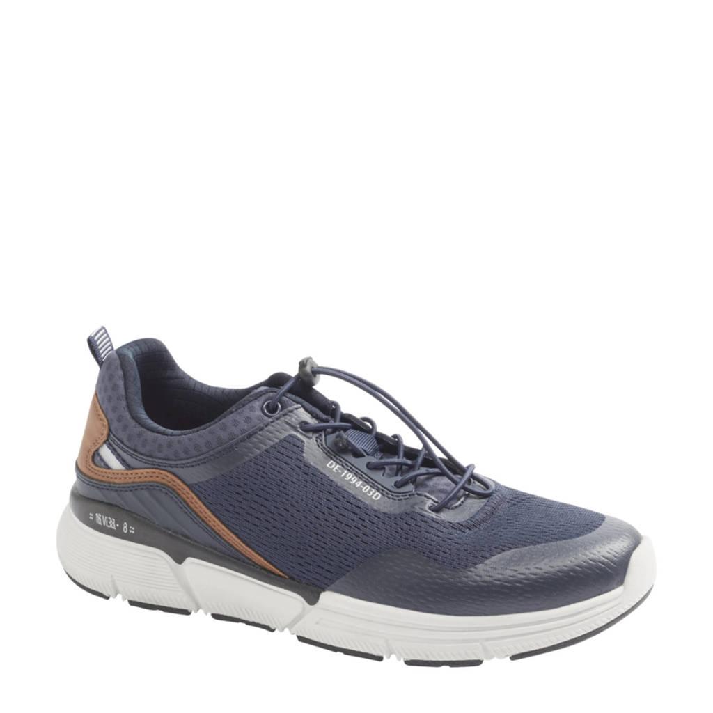 Venice   sneakers blauw, Blauw/bruin