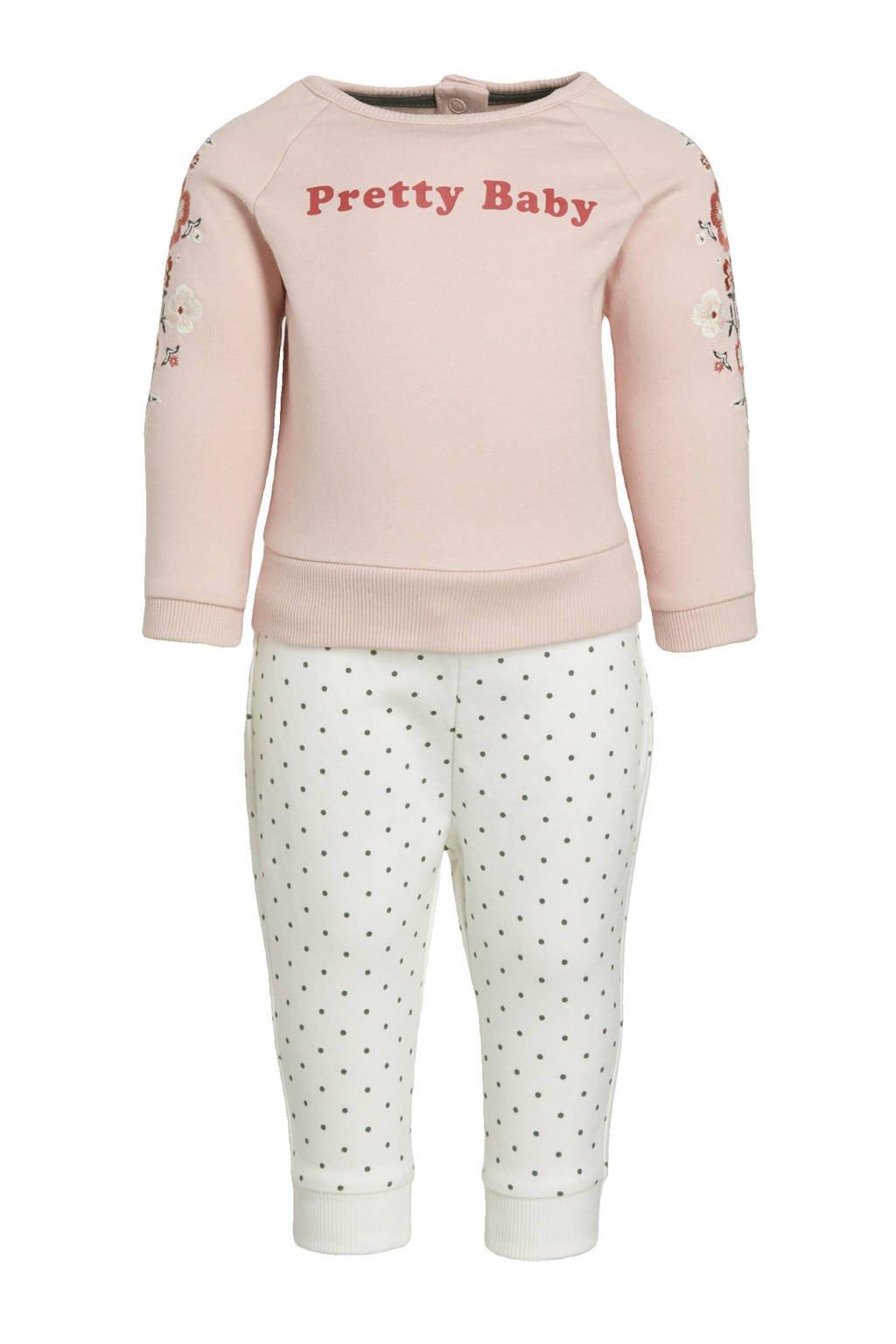 C&A Palomino babybroek + sweater lichtroze/ecru