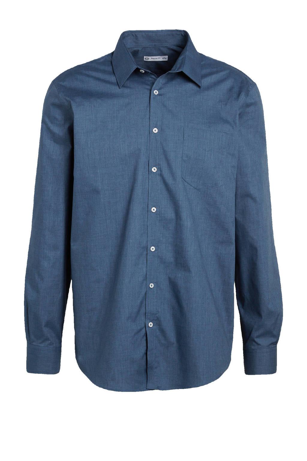 C&A Angelo Litrico regular fit overhemd blauw, Blauw
