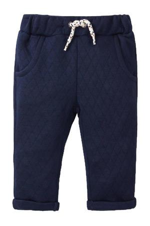 joggingbroek met textuur donkerblauw
