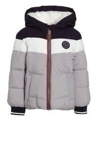 C&A Here & There gewatteerde winterjas grijs/zwart/wit, Grijs/zwart/wit
