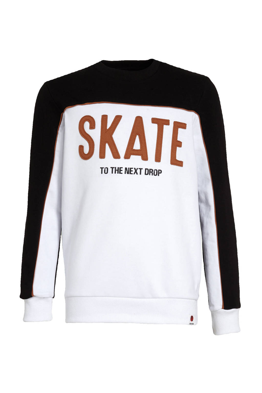 C&A Here & There sweater met tekst wit/zwart, Wit/zwart