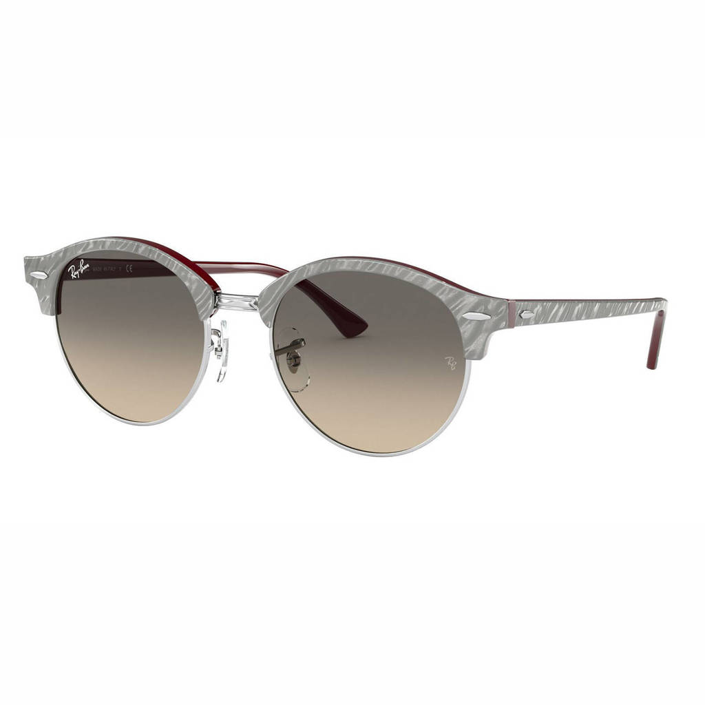 Ray-Ban zonnebril Clubround 0RB4246 grijs/bordeauxrood