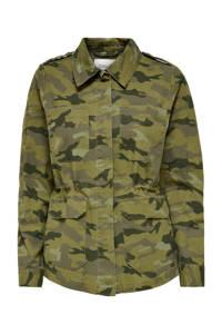 ONLY jasje ONLALLY met camouflageprint groen, Groen
