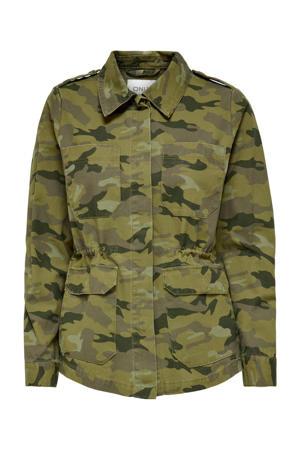 jasje ONLALLY met camouflageprint groen
