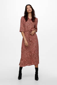 ONLY blousejurk met all over print rood, Rood