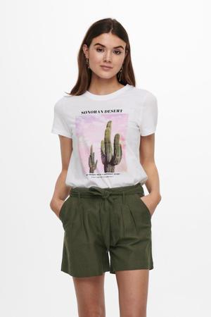 T-shirt ONLLALA met printopdruk wit