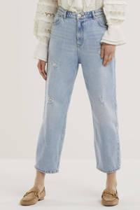 ONLY high waist loose fit jeans ONLMAGGI lichtblauw, Lichtblauw