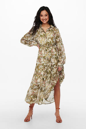 blousejurk ONLDAISY met all over print groen