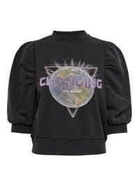 ONLY sweater van biologisch katoen zwart, Zwart