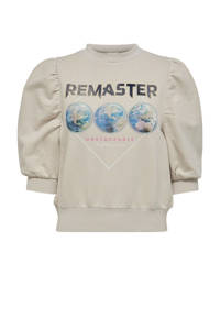 ONLY sweater van biologisch katoen ecru, Ecru