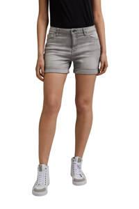 edc Women jeans short met biologisch katoen lichtgrijs, Lichtgrijs