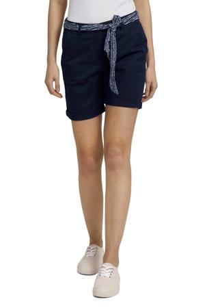 slim fit broek donkerblauw