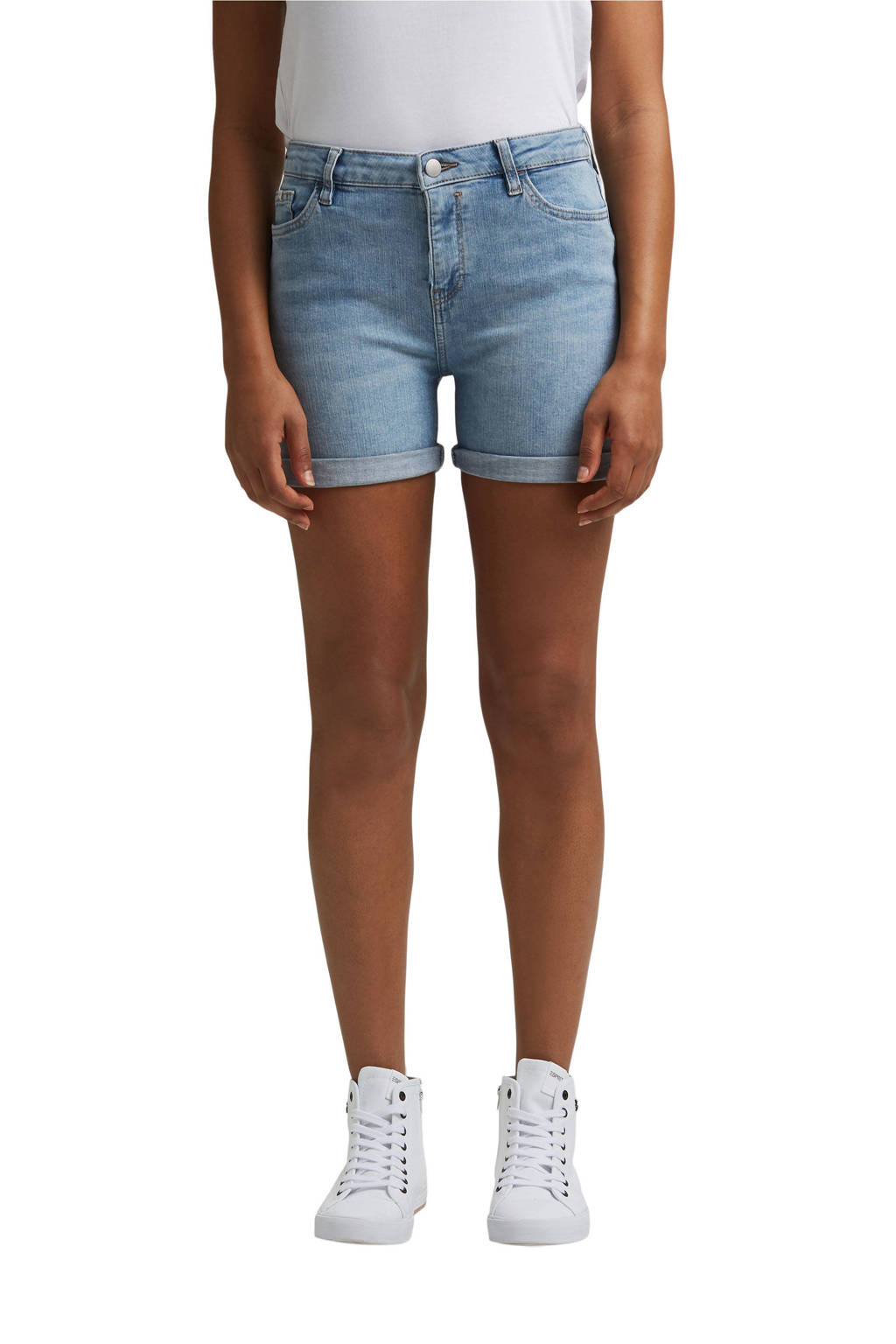 edc Women jeans short light denim, Light denim