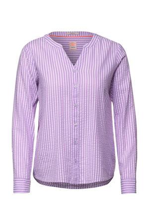 gestreepte blouse lila/wit
