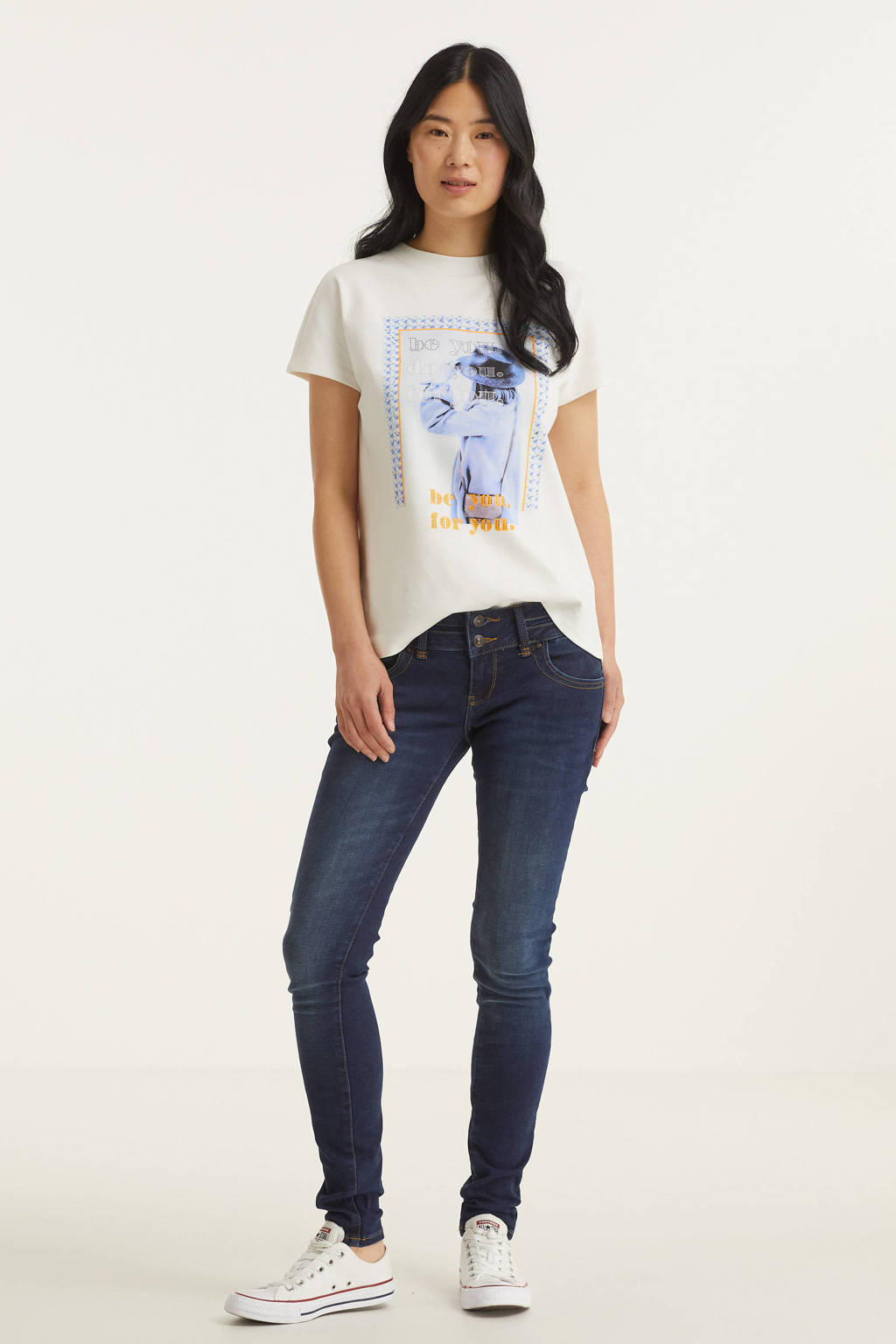 Street One T-shirt met printopdruk wit, Wit