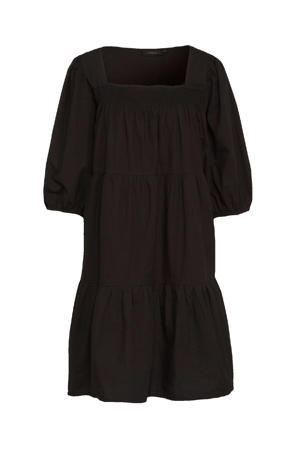 A-lijn jurk Maddie  van biologisch katoen zwart
