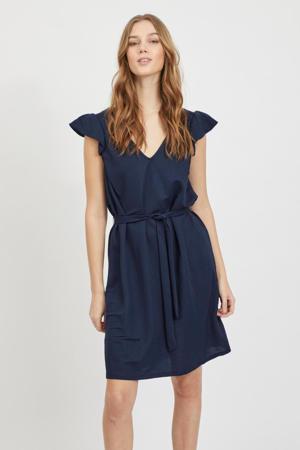 jurk VIWANDERA  met ruches blauw