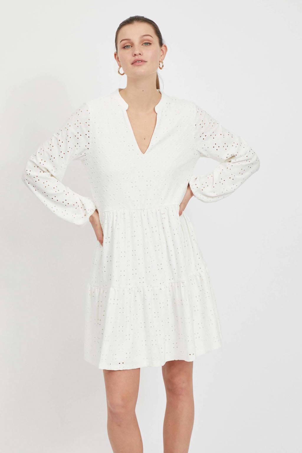VILA A-lijn jurk VIKAWA met volant wit, Wit
