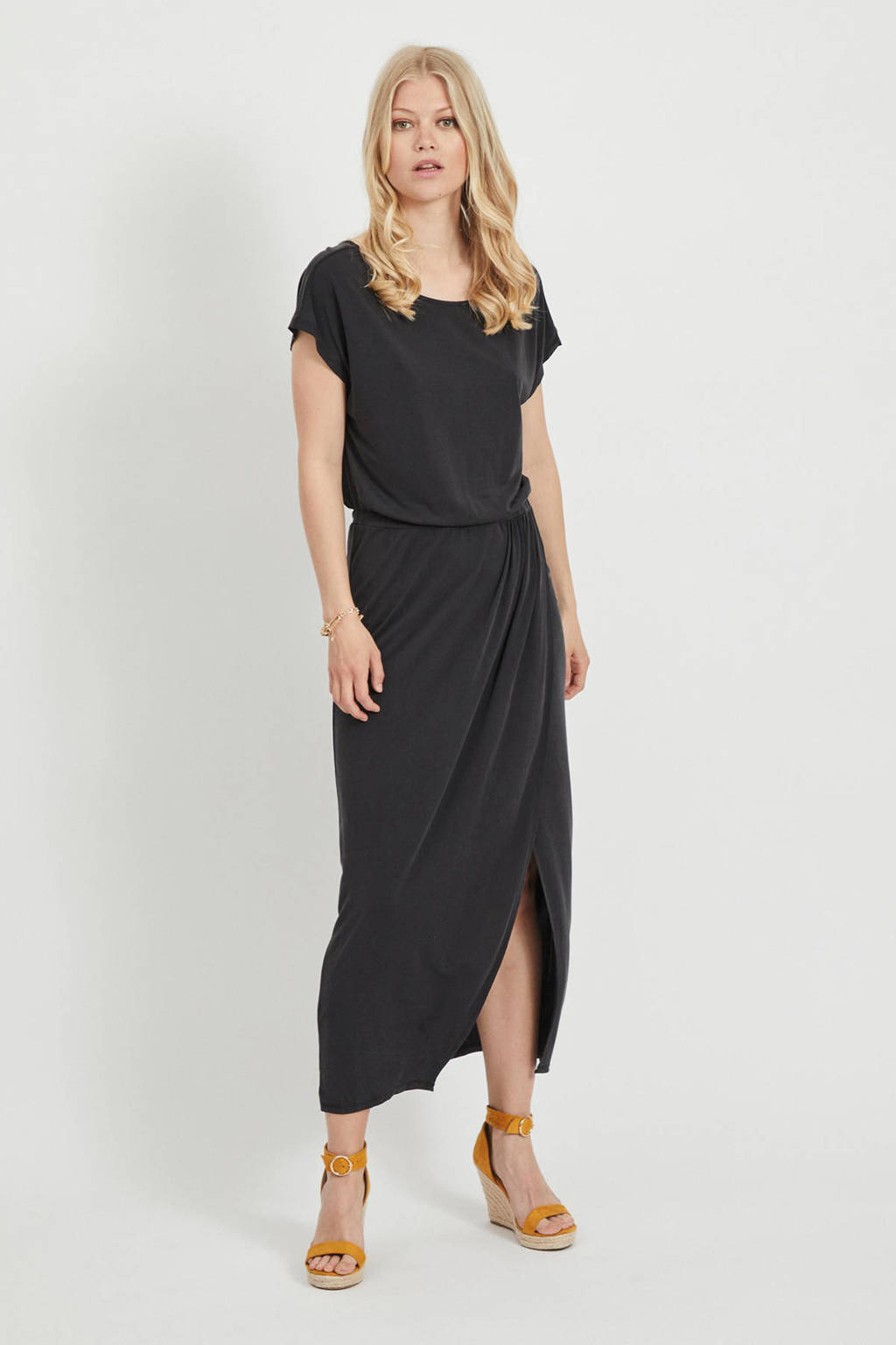 VILA maxi jurk VIMODALA  zwart, Zwart