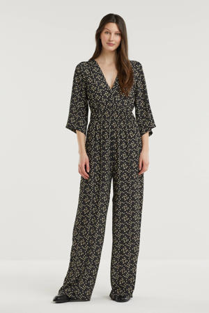 jumpsuit met all over print zwart