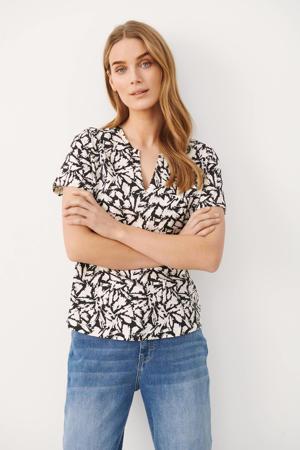 T-shirt GesinaPW met all over print zwart/off white