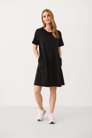A-lijn jurk JensyPW met plooien zwart