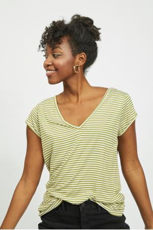 gestreept T-shirt VISCOOP  groen