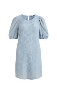 VILA jurk VIABANA met textuur lichtblauw, Lichtblauw