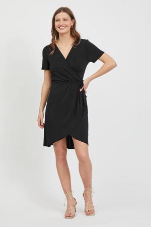 wikkeljurk VINAYELI van gerecycled polyester zwart