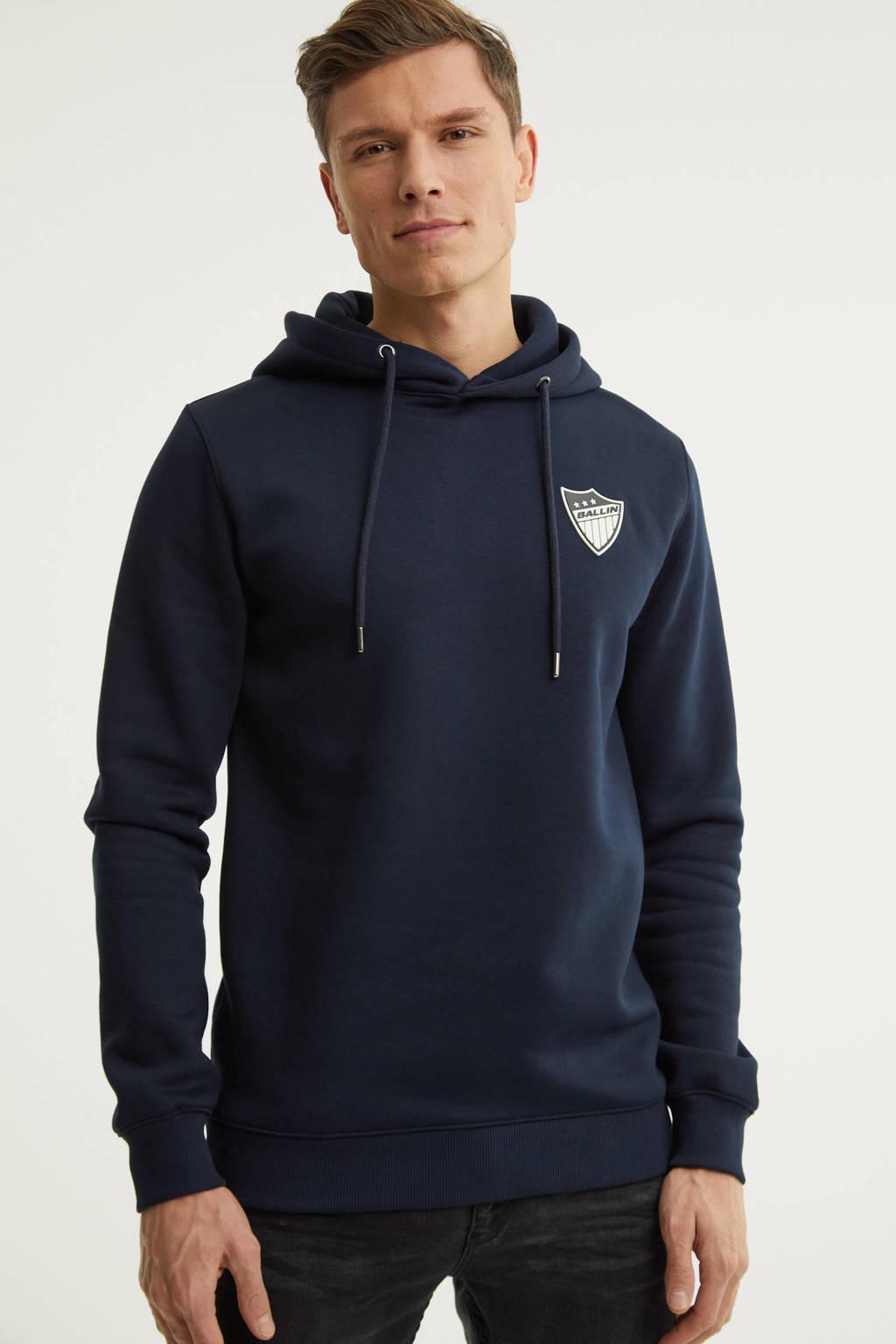 Ballin hoodie met logo marine, Marine