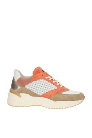 bullboxer   suède sneakers oranje/multi