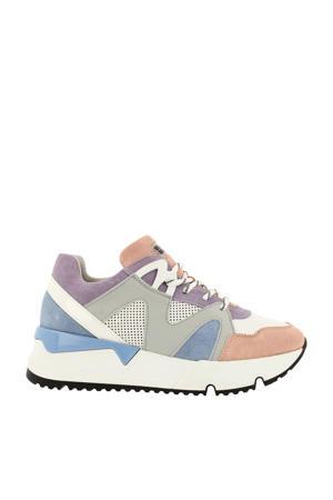 bullboxer   suède sneakers wit/multi