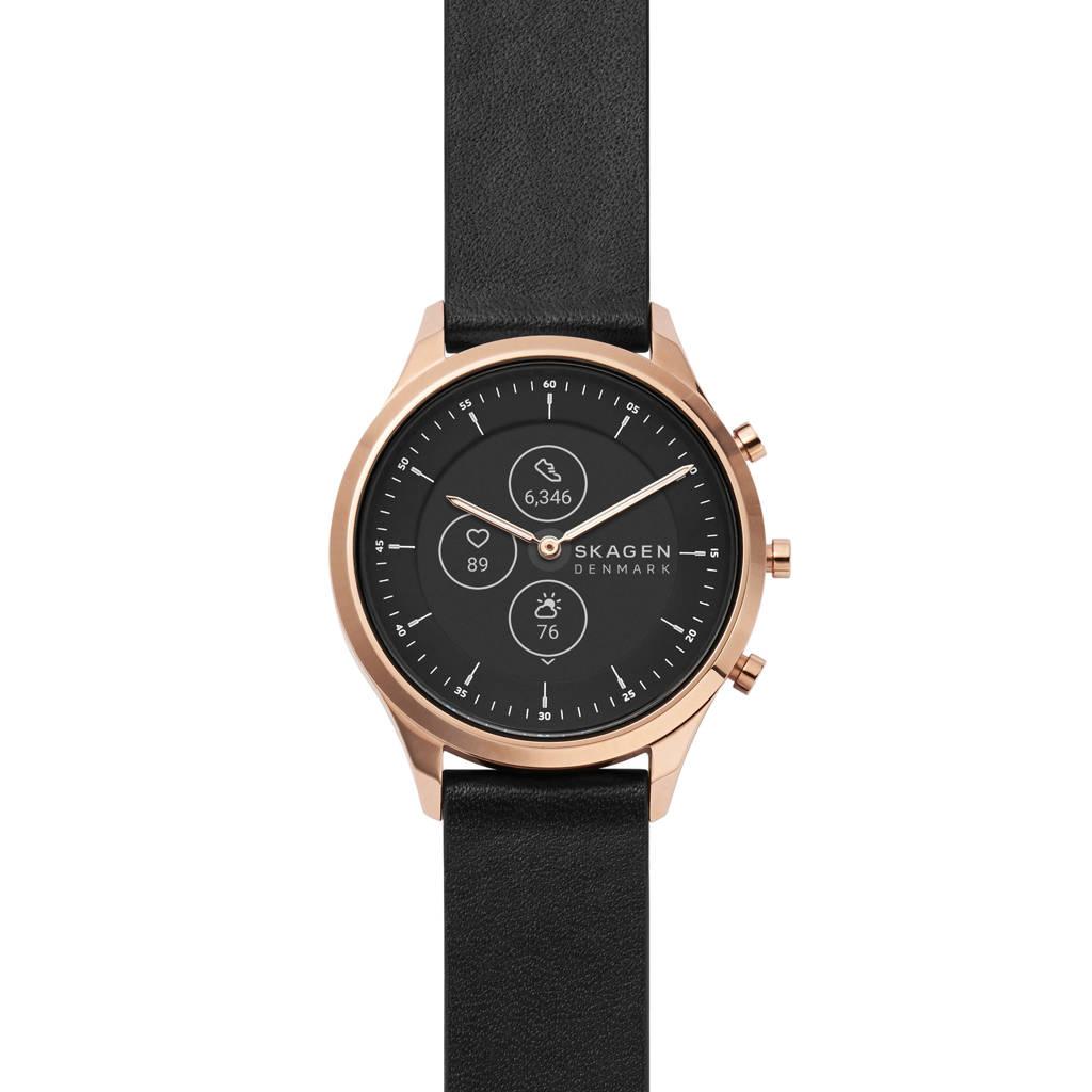 Skagen Connected Jorn 38mm Dames Hybrid HR Smartwatch SKT3102, Zwart/rosé