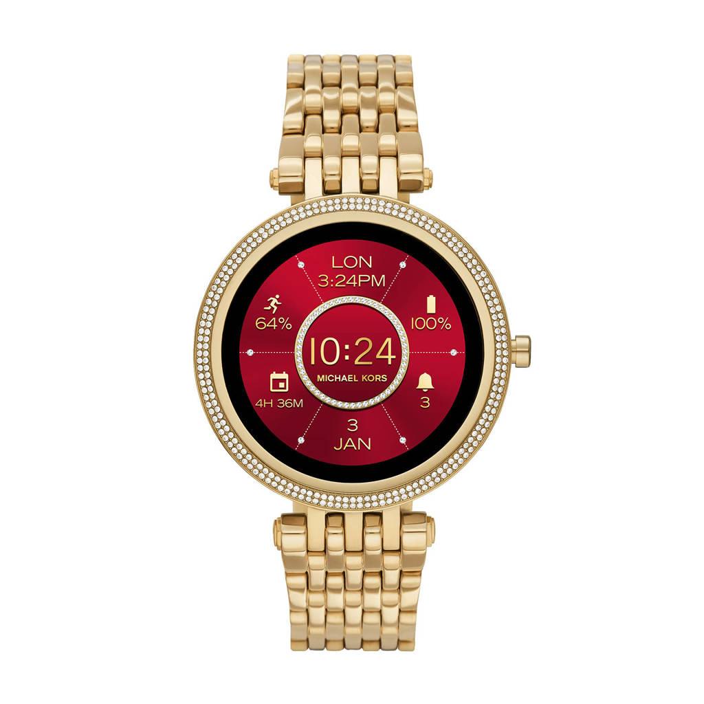 Michael Kors Darci Gen 5E Dames Display Smartwatch MKT5127, Goudkleurig