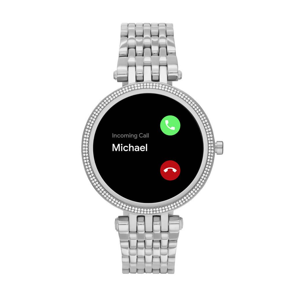 Michael Kors Darci Gen 5E Dames Display Smartwatch MKT5126, Zilverkleurig