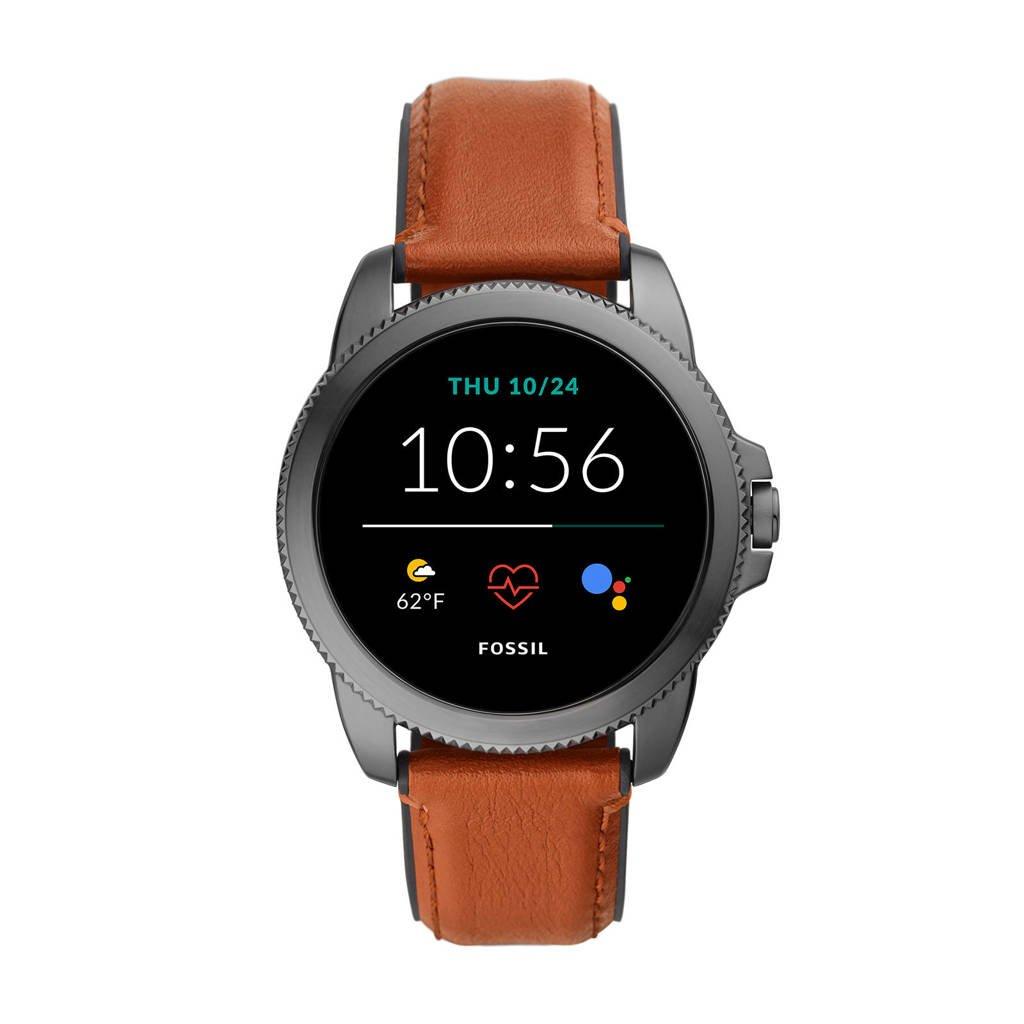 Fossil Gen 5E Heren Display Smartwatch FTW4055, Bruin/grijs