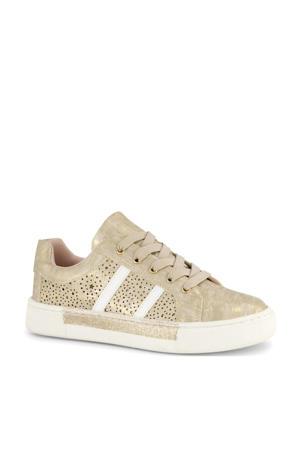 sneakers goud/wit