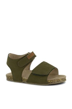 leren sandalen groen