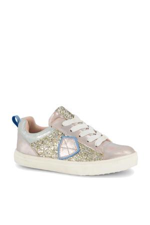 sneakers met glitters roze