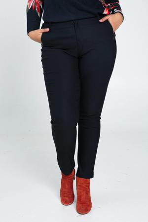 straight fit broek donkerblauw
