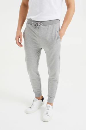 slim fit joggingbroek grey melange