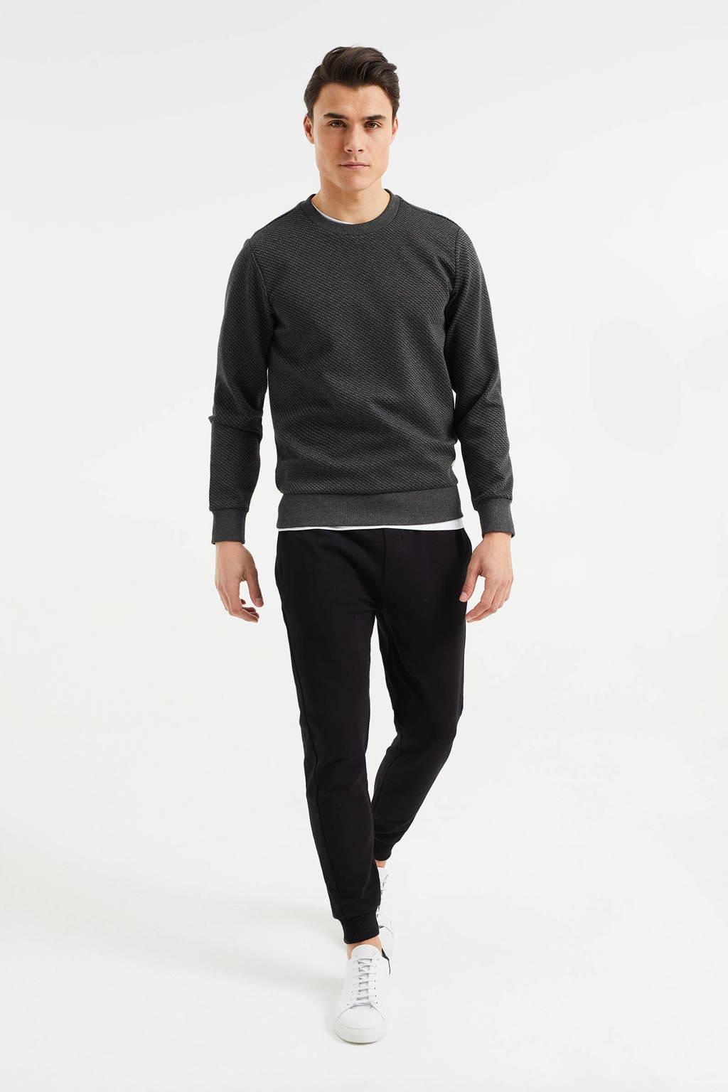 WE Fashion slim fit joggingbroek black uni, Black Uni