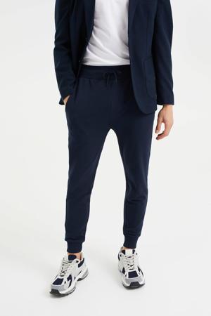 slim fit joggingbroek heavy blue