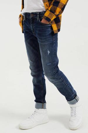 slim fit jeans dark blue denim