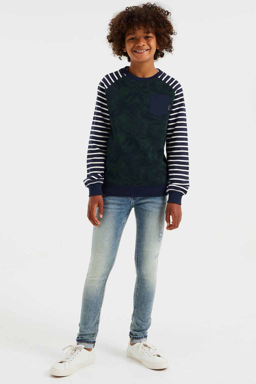 WE Fashion Blue Ridge skinny jeans vintage blue, Vintage blue