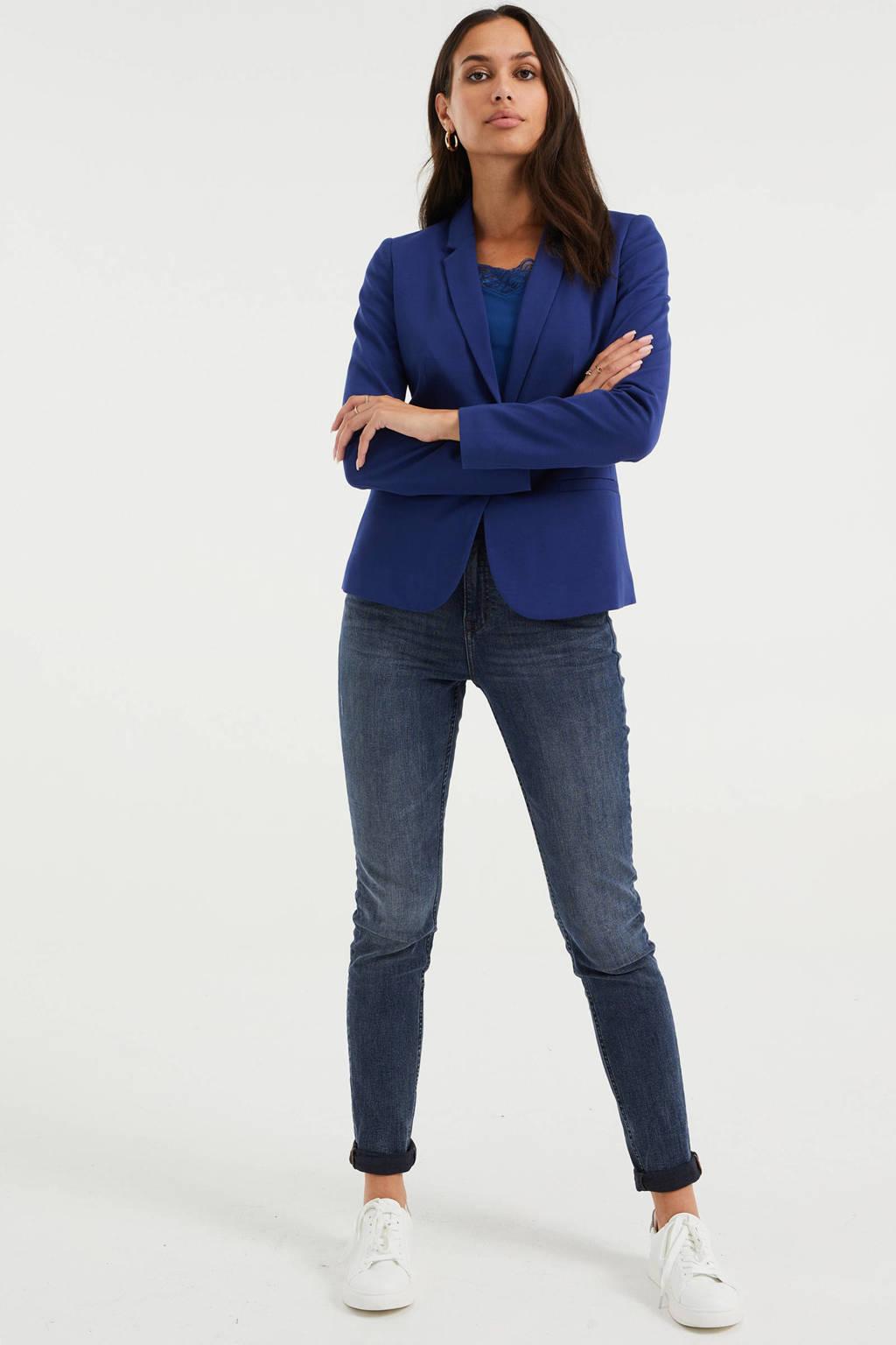 WE Fashion jersey blazer blauw, Blauw