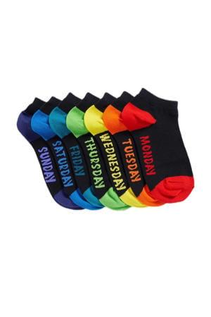 enkelsokken - set van 7 multi color