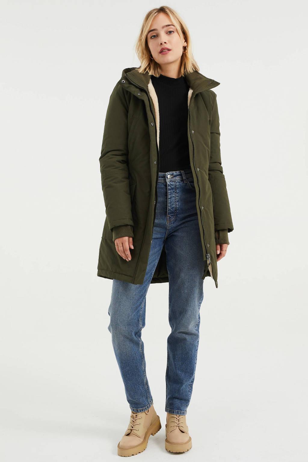 WE Fashion jas donkergroen, Donkergroen