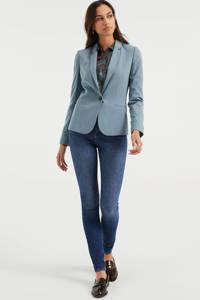 WE Fashion jersey blazer grijsblauw, Grijsblauw